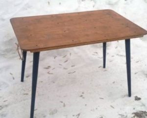 Самодельный складной столик