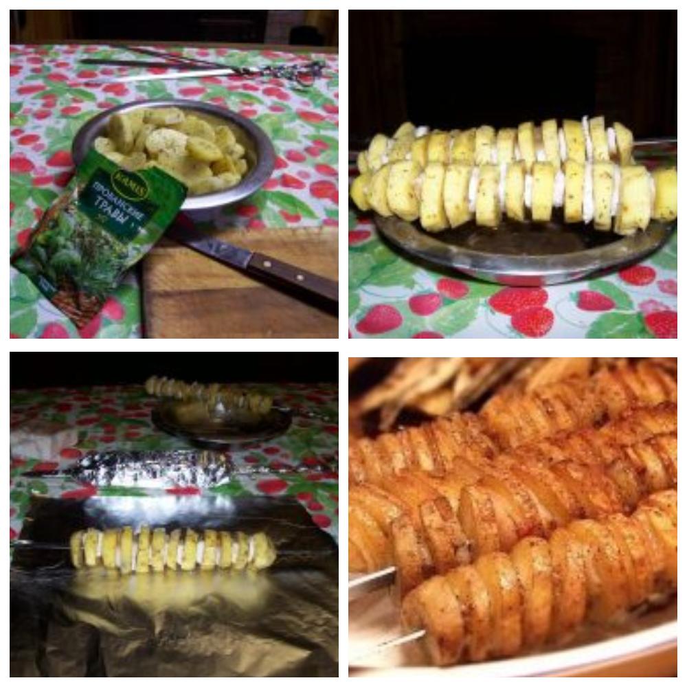 Приготовление шашлычков из картофеля