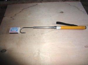 Складной багорик из селфи палки
