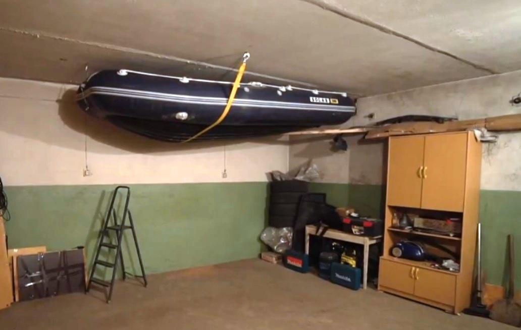 Хранение надувных лодок