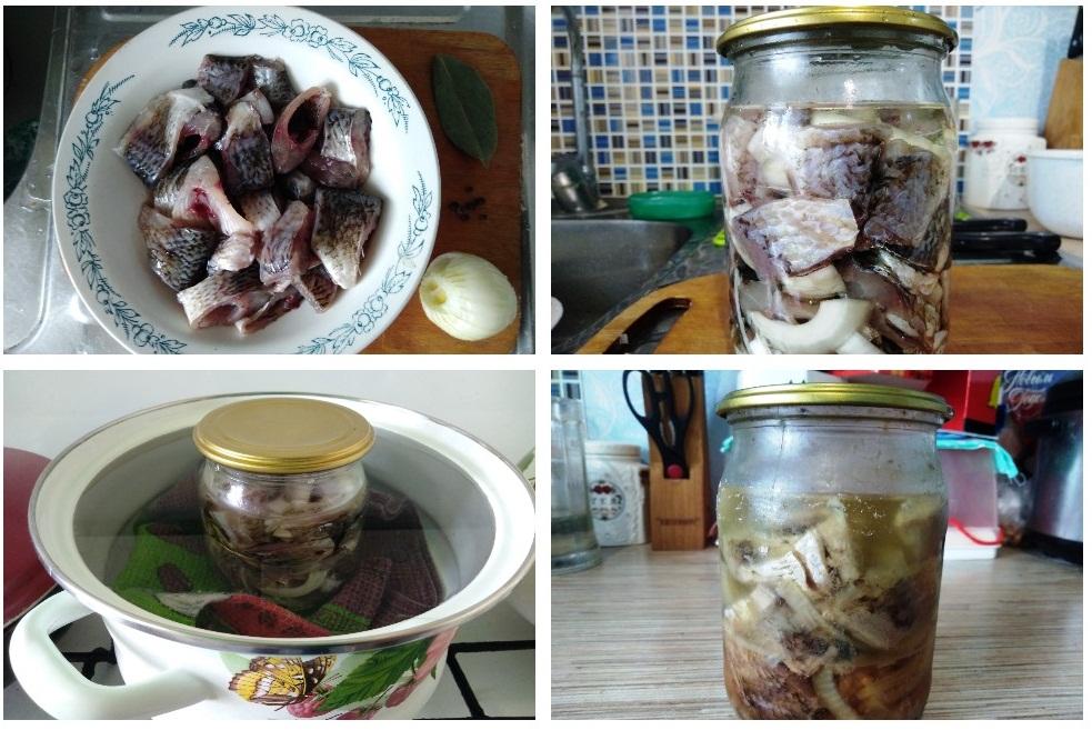 Приготовление консервы из карасей
