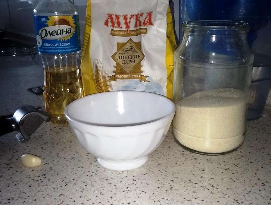 Ингредиенты для чесночного теста